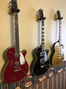 Gretsch Jet Club and Pro Jet Guitars w/logo hardshell cases