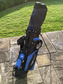 Full set of golf clubs with accessories