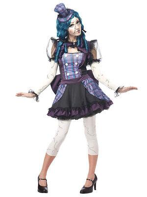 Verkleidung Zerbrochene Halloween-Puppe für Damen - Zerbrochene Puppe Kostüm