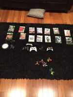 Xbox 360 slim 250gb, games and controllers