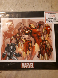 Authentic Marvel Iron Man lithograph print 14/1000
