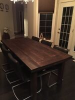 Dining table kitchen table solid black walnut