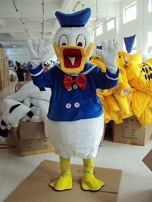 Donald Duck Fancy Dress Mascot Costume Character Adult Suit AUU (Donald Duck Adult Costume)