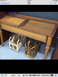 Antique Double Lift Top School Desk