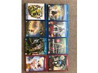 3D blu ray movies 3 each