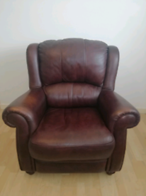 Finest Brown leather armchair