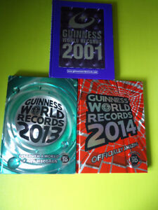 Guinness world records 2001, 2002, 2013 and 2014 (hardcover)