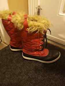 Sorel boots with matching coat