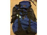 Blacks Savannah 70 litre backpack rucksack bag gap year backpacking hiking walking