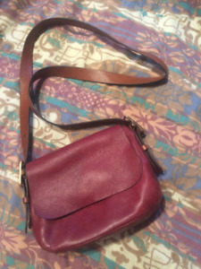 Leather Purse - Fossil Crossbody Bag