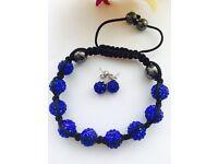 Stunning Shamballa Bracelet and Earrings Set
