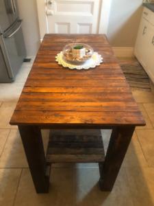 Handcrafted Wooden Kitchen Island