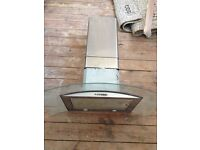 Extractor fan, chrome and glass