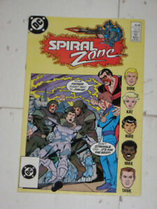 DC Comics Spiral Zone (1988)#'s 1,2&3 (complete set) comic book