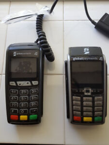 Credit debit card processing machines by Global Payments