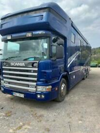 2002 SCANIA 4-SRS D-CLASS WHITTAKER 5 STALL HORSE BOX 9.0 P94 DB 6X2 300 DAY 296