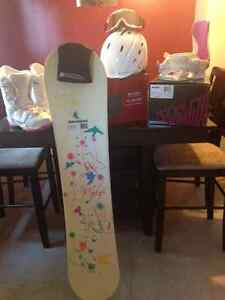 Girls snowboard package. Never used.