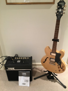 Excellent condition: Epiphone Electric Guitar and VOX Amp