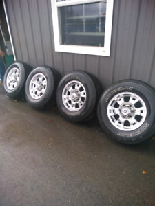 Michelin M & S TIRES ON RIMS