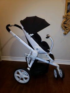 Quinny Moodd  Stroller (Black on White Frame) USED good conditio