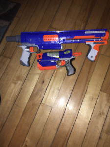 Nerf Gun Collection and Accesories