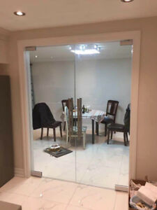10mm Tempered Glass Entrance Door &Mirror &Stair