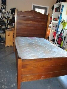 Antique 3/4 bed made in late 1800s with mattress 135 obo