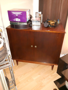 REDUCED AGAIN!! Cool Vintage Vinyl Record  Cabinet