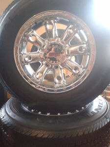 "(4) 8 bolt 18"" Chevy Offroad Mafia rims"