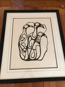 Norval Morrisseau Signed Ltd Ed 77/98 Simplicity In Spirit