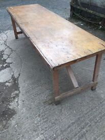 1940s utility banquet table