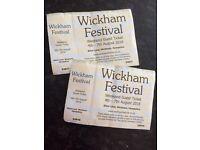 Wickham festival full weekend tickets