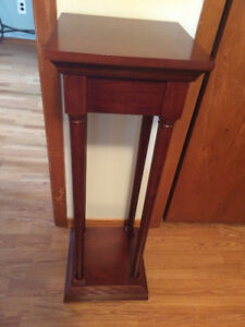 Solid wood plant/display stand