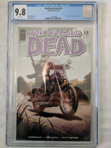 Walking Dead #15 comic CGC 9.8 White Pages