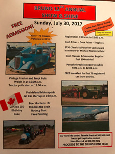 BRUNO SHOW AND SHINE JULY 30TH 2017