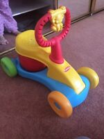 Toddler bouncy ride along toy