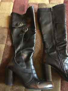 Ladies brown dress boots size 7