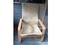 IKEA poang chair no cushion