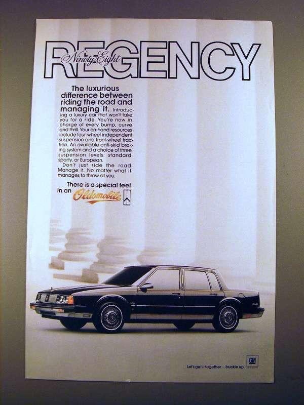 1985 Oldsmobile Ninety-Eight Regency Car Ad - Luxurious