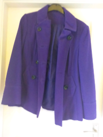 New, purple coat, size14