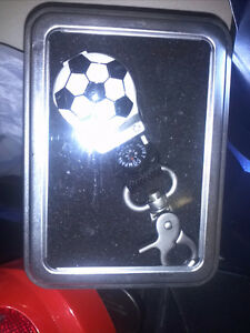 Soccer Ball Water Resistant Compass Key Chain