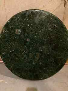 """GREEN MARBLE TABLE TOPS - 30"""" AND 24"""" West Island Greater Montréal image 1"""
