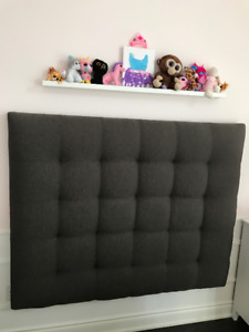Barcelona Tufted Upholstered Custom Queen Headboard from macFAB