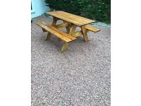6 seater picnic bench for sale
