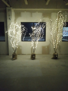 DECORATIVE BIRCH TREES WITH LIGHTS FOR SALE