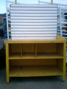 Steel work benchs with slotwall for tools