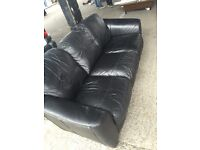 Black leather 3 seater sofa for sale good condition £65 free delivery