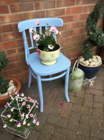 PAINTED BLUE VINTAGE CHAIR