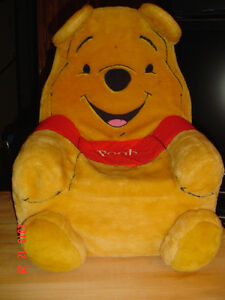 """POOH BEAR"" 1990'S CHILD'S FOAM CHAIR WITH REMOVABLE COVER"