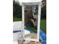 BEAUTIFUL VERY LARGE ORNATE WHITE MIRROR NEW